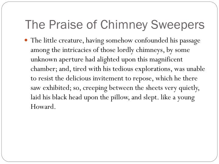 The praise of chimney sweepers1