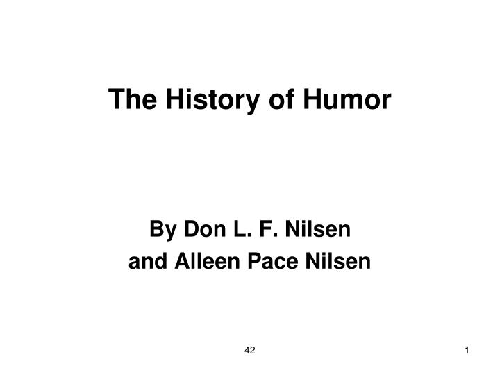 the history of humor n.