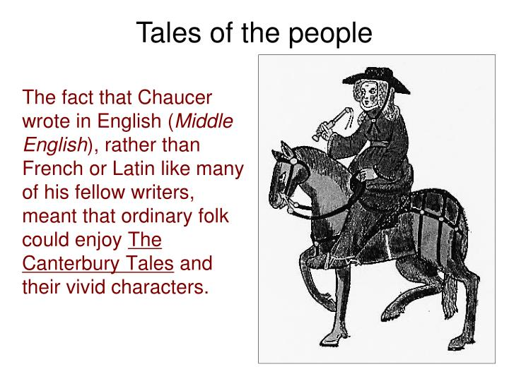chaucer middle english