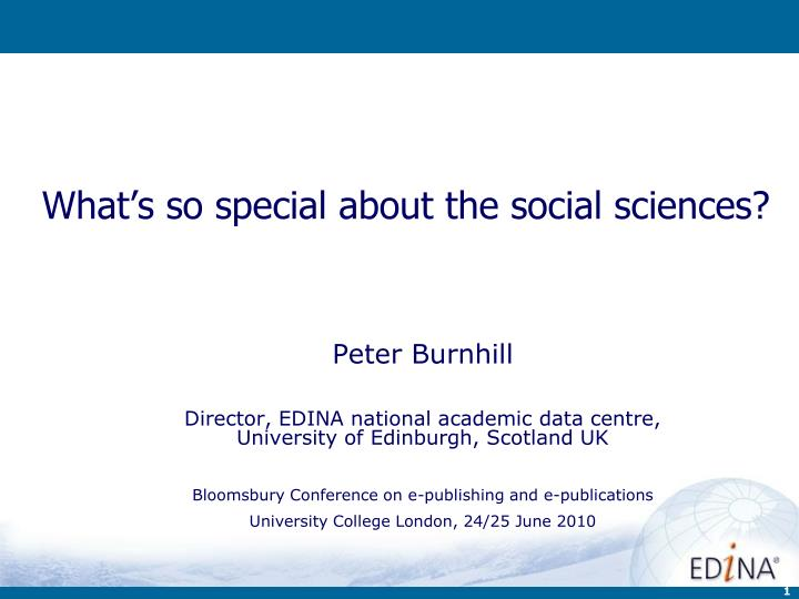 what s so special about the social sciences n.