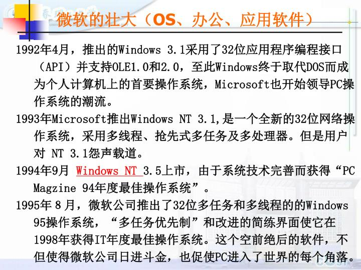 微软的壮大(