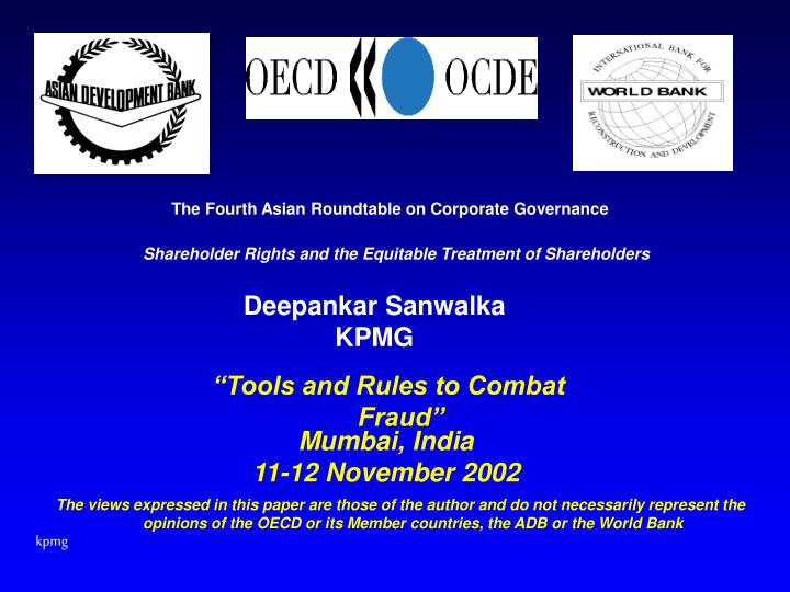 The Fourth Asian Roundtable on Corporate Governance