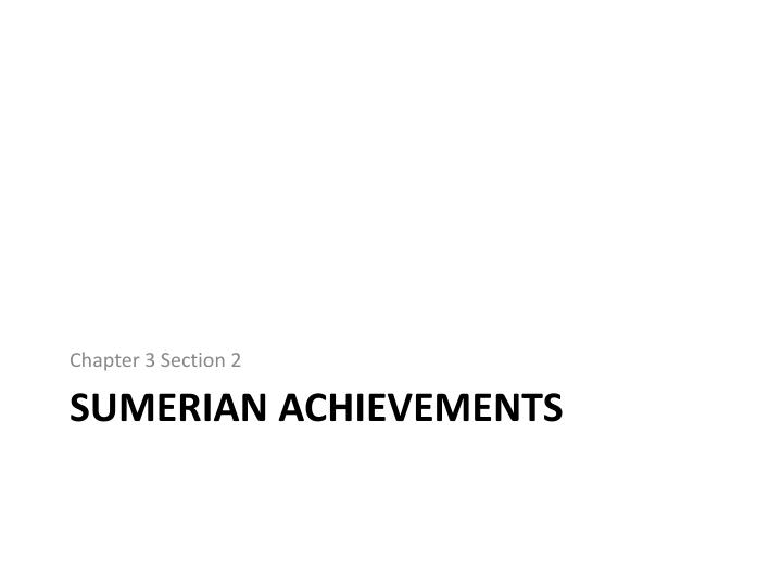 sumerian accomplishments