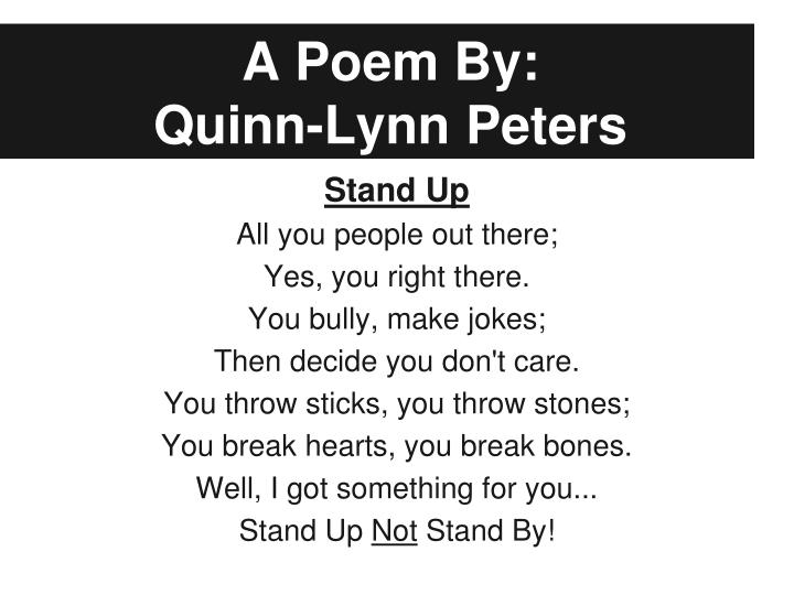 A Poem By: