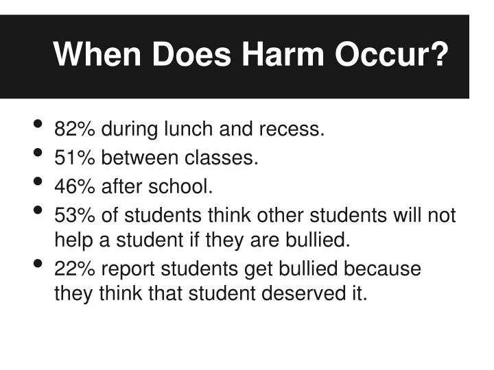When Does Harm Occur?