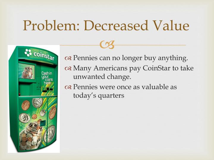 Problem: Decreased Value