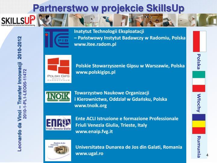 Partnerstwo w projekcie SkillsUp
