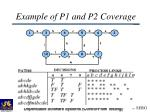 example of p1 and p2 coverage