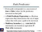 path predicates