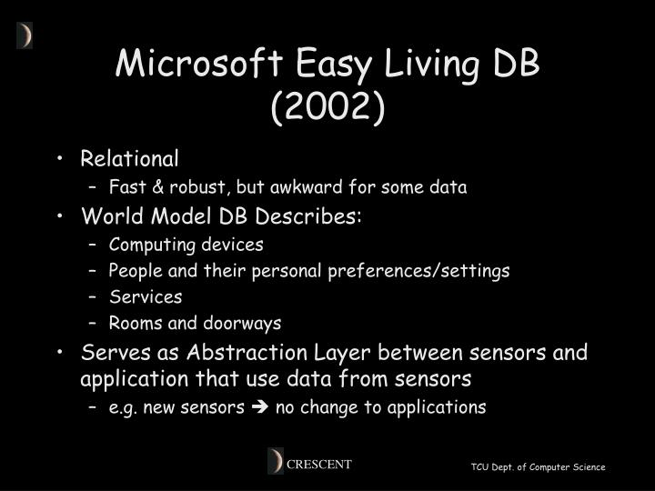 Microsoft Easy Living DB (2002)