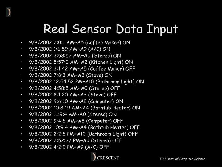 Real Sensor Data Input