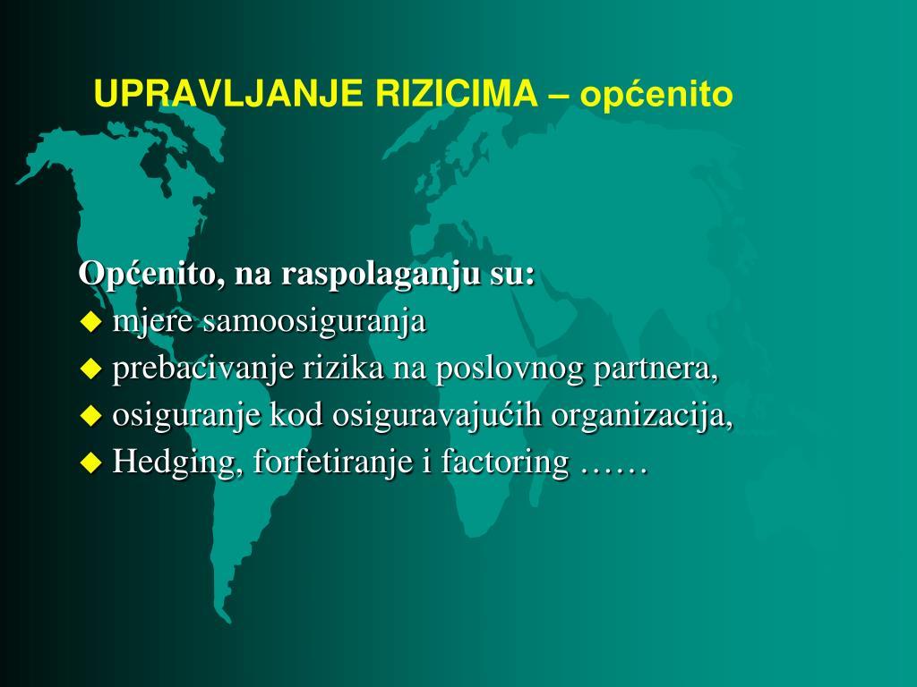 PPT - RIZICI I POLITIKA RIZIKA PowerPoint Presentation - ID