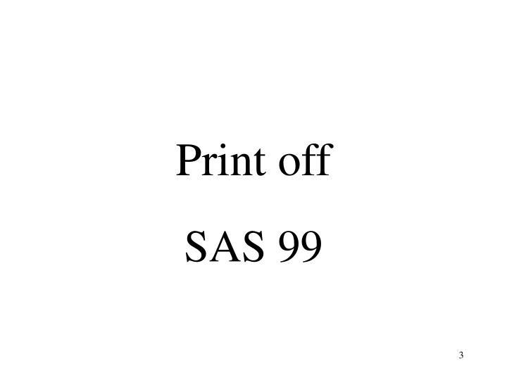 Print off