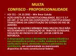 multa confisco proporcionalidade