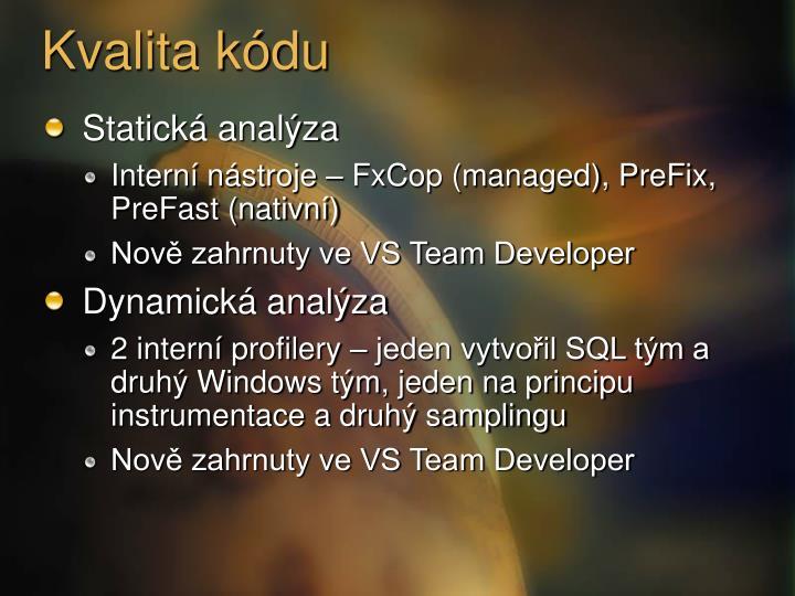 Kvalita kódu
