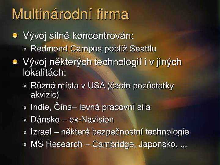 Multinárodní firma