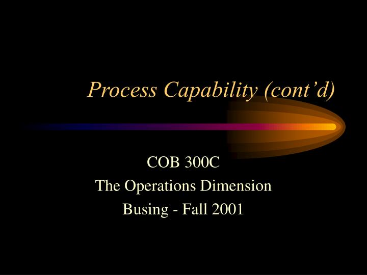 process capability cont d n.