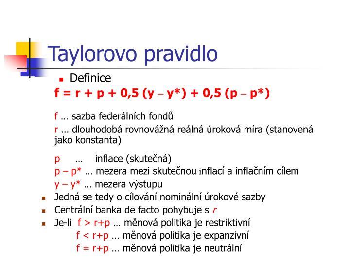 Taylorovo pravidlo