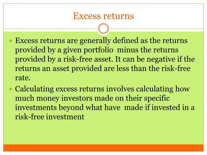 Excess returns