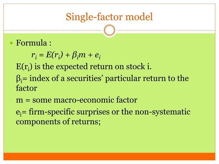 Single-factor model