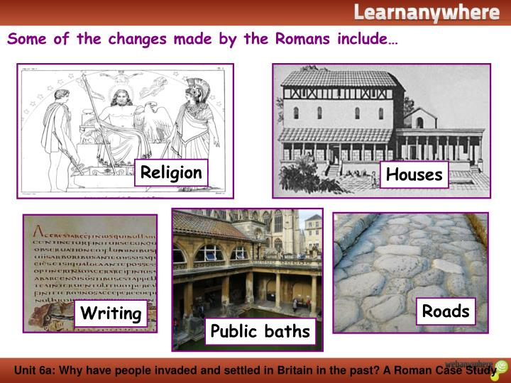 Some of the changes made by the Romans include…