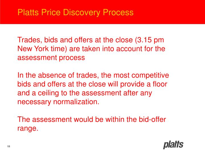 Platts Price Discovery Process