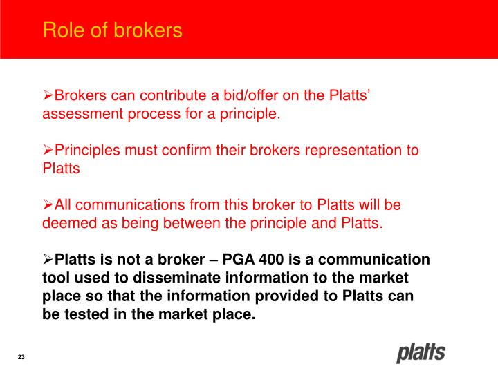 Role of brokers