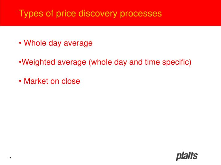 Types of price discovery processes