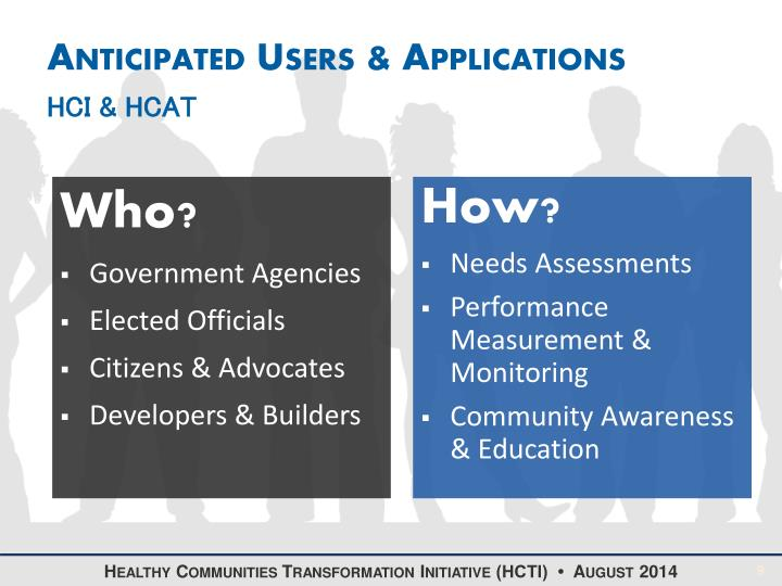 Anticipated Users & Applications