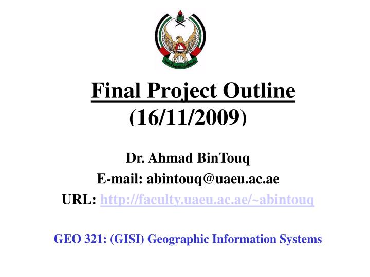 final project outline 16 11 2009 n.