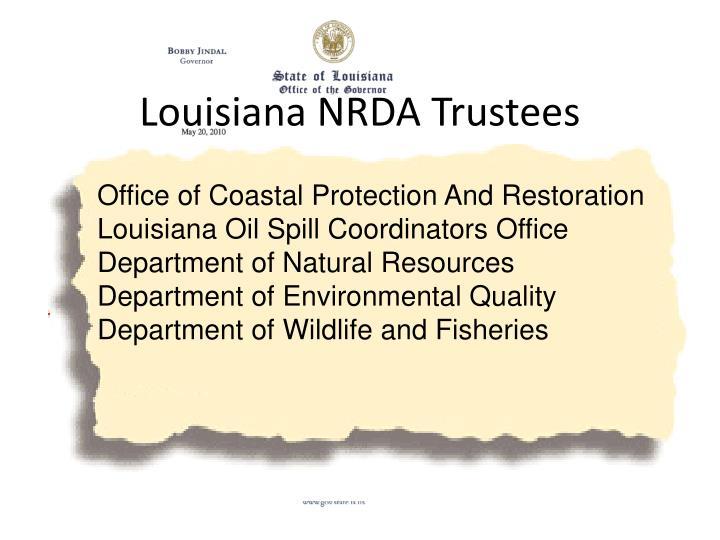 Louisiana NRDA Trustees