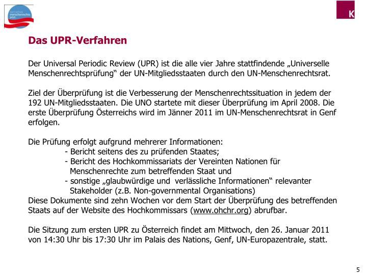 Das UPR-Verfahren