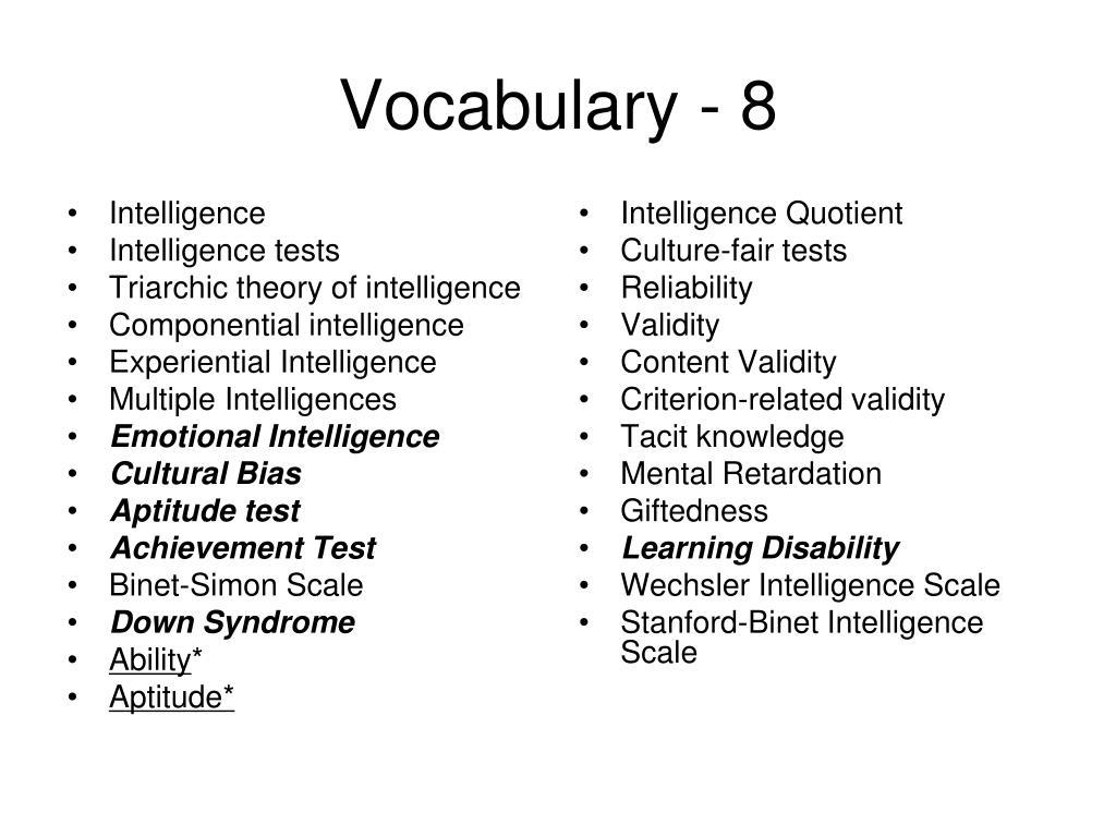 intelligence quotient scale
