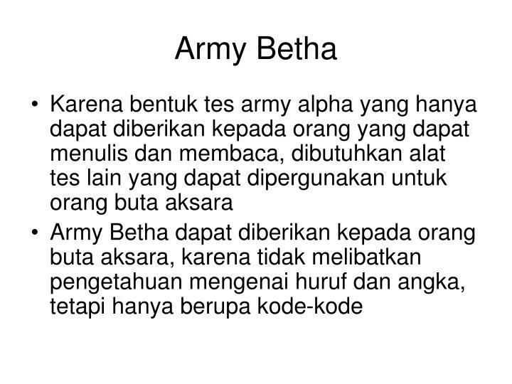 Army Betha