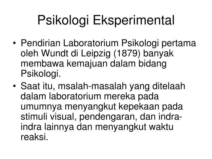 Psikologi Eksperimental