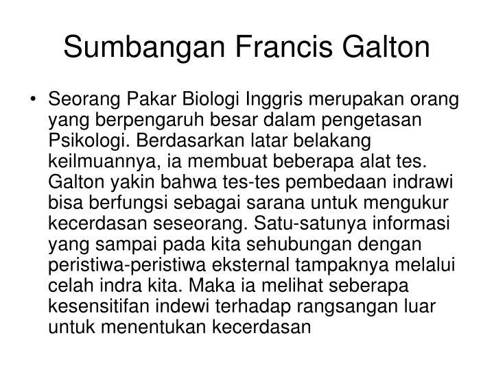 Sumbangan Francis Galton