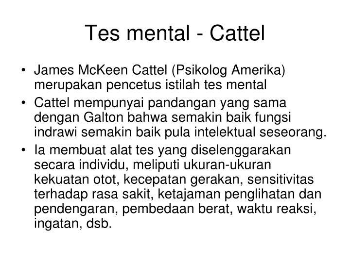 Tes mental - Cattel