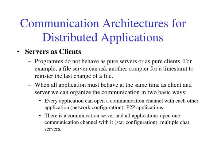 Servers as Clients