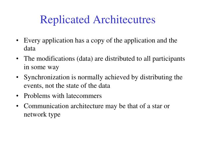 Every application has a copy of the application and the data