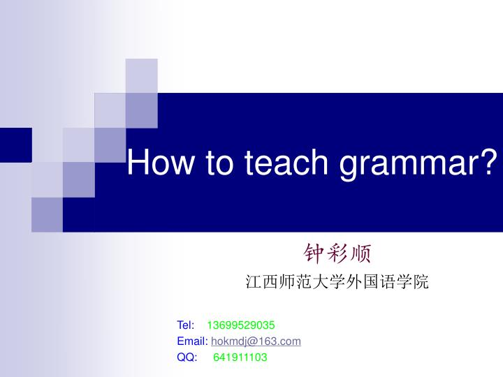 how to teach grammar n.