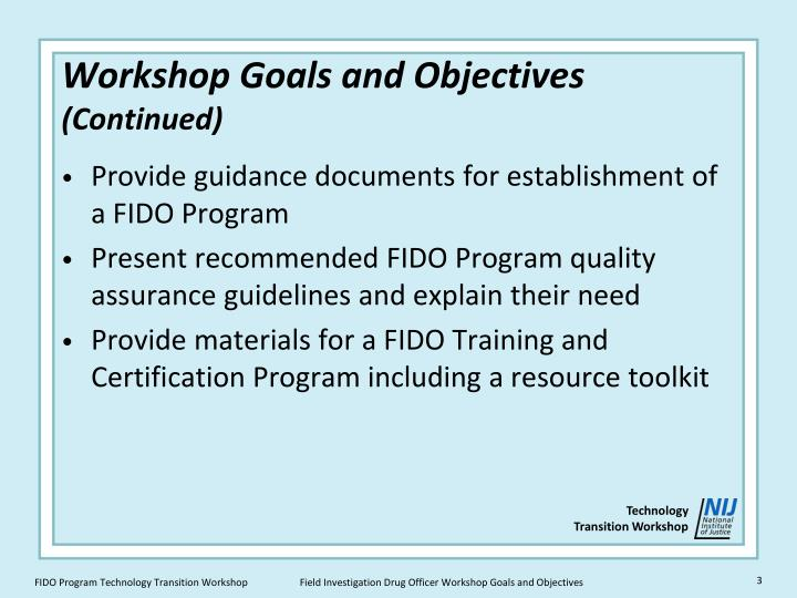 objectives of guidance program