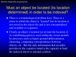 must an object be located its location determined in order to be indexed