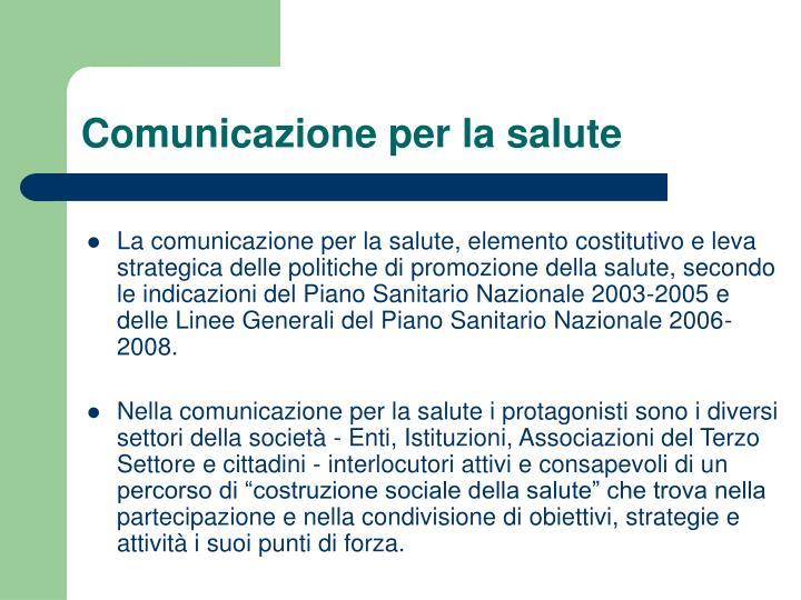 Comunicazione per la salute