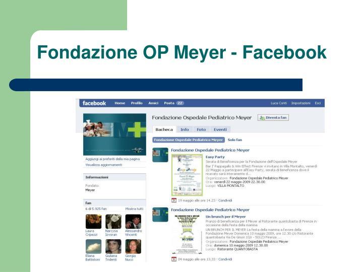 Fondazione OP Meyer - Facebook