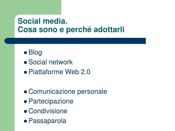 Social media.