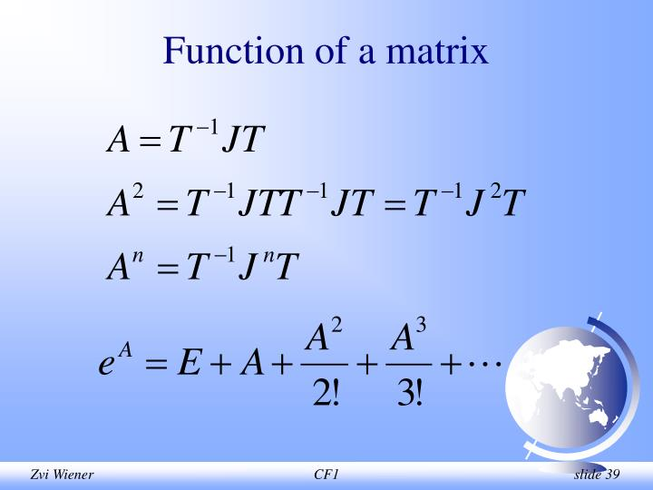 Function of a matrix