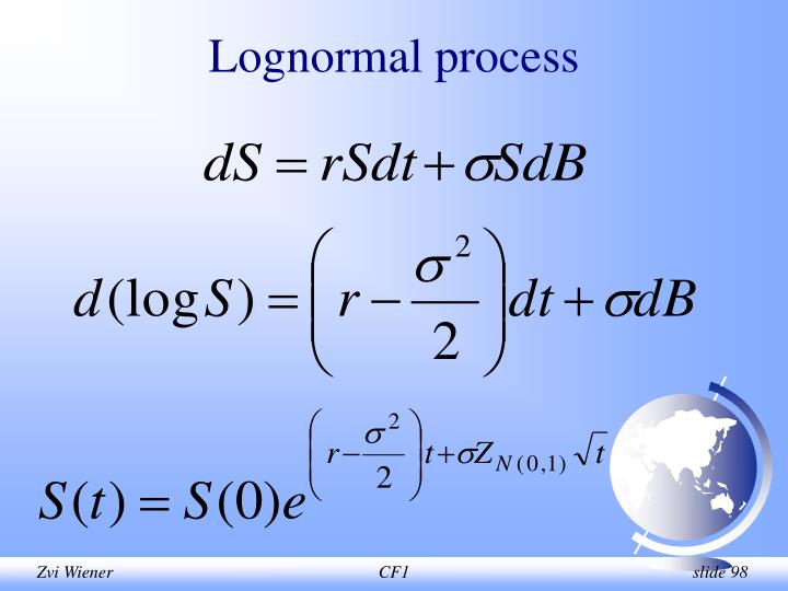 Lognormal process