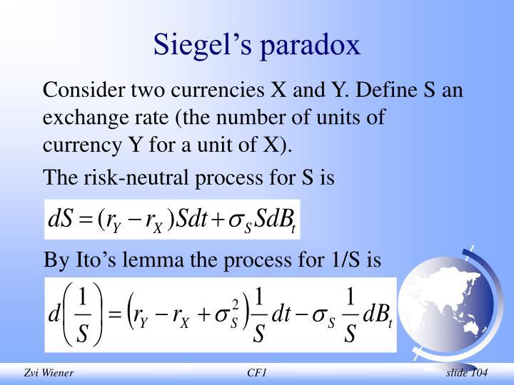 Siegel's paradox