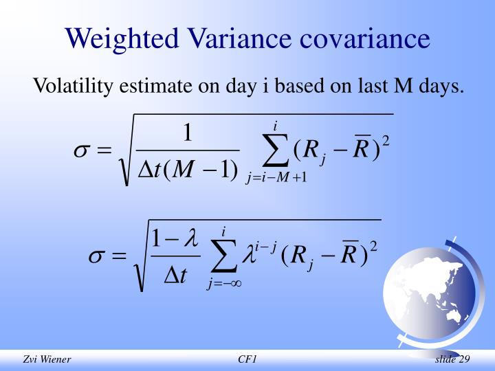 Weighted Variance covariance