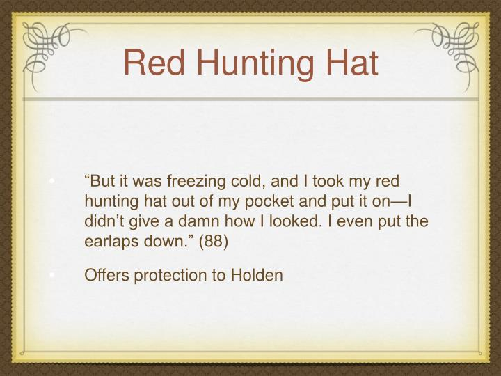 holden caulfield red hunting hat quotes
